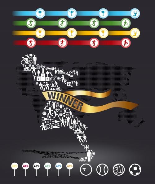 Спортивные инфографики / Sport infographic - vector stock