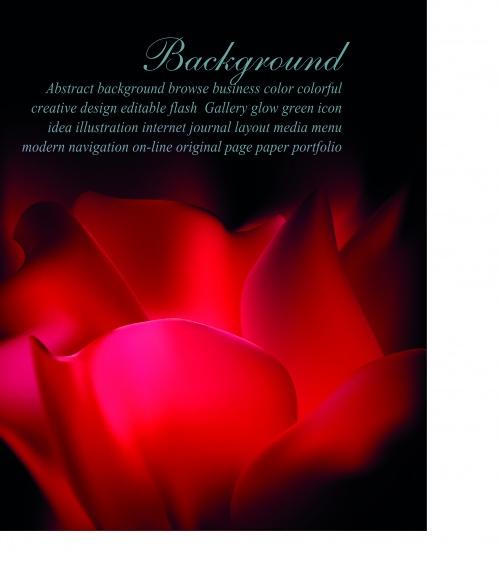 Магия цветы фоны | Flowers magic vector background