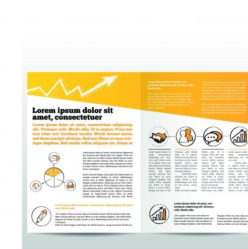 Бизнес брошюра часть 38 | Business brochure vector set 38