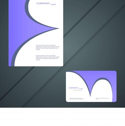 Современные бизнес карточки и брошюры | Modern business cards and brochure design vector