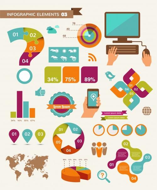 Социальные инфографики, 48 / Social media infographics,48 - vector stock