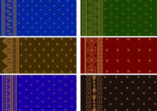 Indian patterns and borders