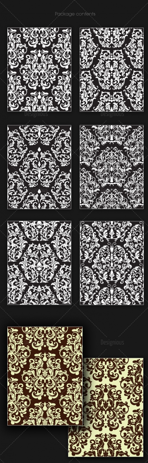 Seamless Patterns Vector Pack 143
