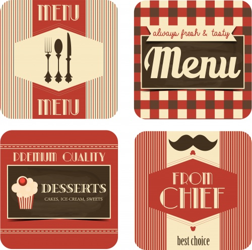��������� ���� ���� � ��� �������� / Menu and VIP card - vector stock