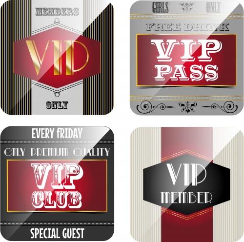 Векторные фоны меню и вип карточки / Menu and VIP card - vector stock