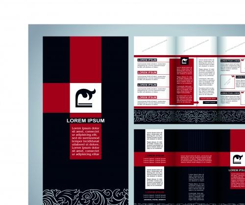 Бизнес брошюра из трёх страниц часть 36 | Tri fold business brochure vector set 36