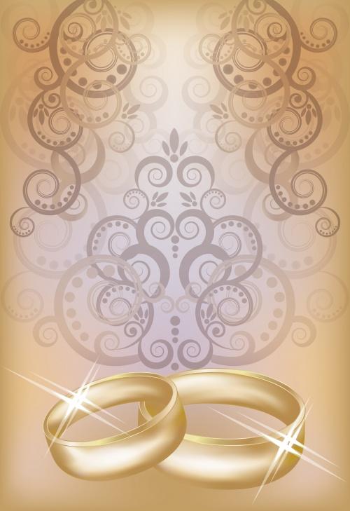 Свадебные пригласительные и винтажные элементы в векторе / Wedding invitation and vintage elements - vector stock