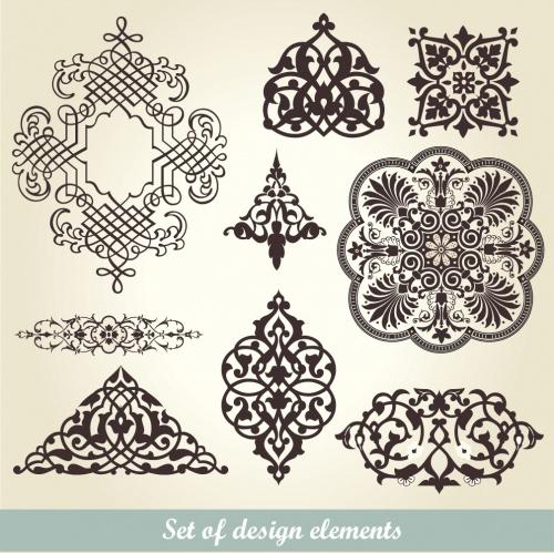 Винтажные меню и бордюры в векторе / Vintage menu and borders in vector