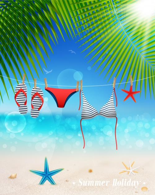 Tropical Paradise Backgrounds Vector