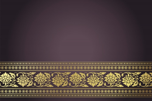 Stock: Wedding template, paisley floral pattern