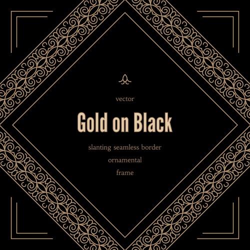 Темные винтажные фоны с орнаментом, 19 / Black vintage backgrounds in vector