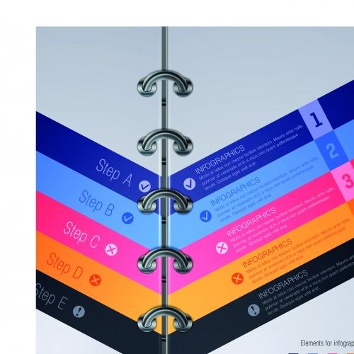 Инфографики креативный дизайн часть 62   Infographic creative design vector set 62