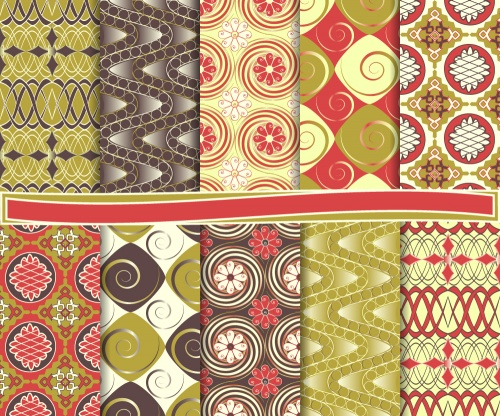 Set of abstract seamless pattern