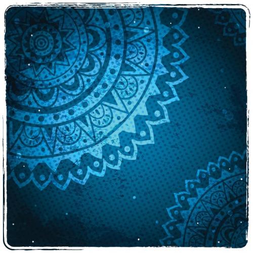Винтажные синие фоны в векторе / Vintage blue background in vector