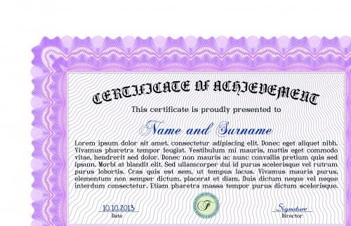 Шаблоны сертификаты часть 27 | Certificate template vector set 27