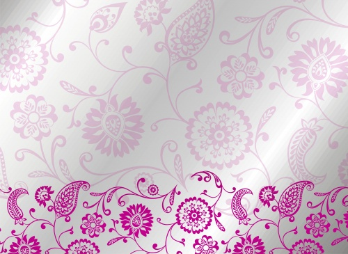 Stock: Wedding template design, paisley floral