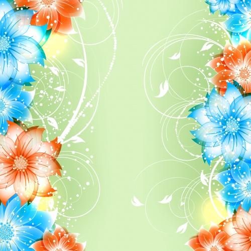 Цветочные векторные фоны, часть 6 / Floral backgrounds, part 6 - vector stock