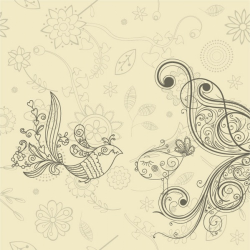 Decorative backgrounds with birds