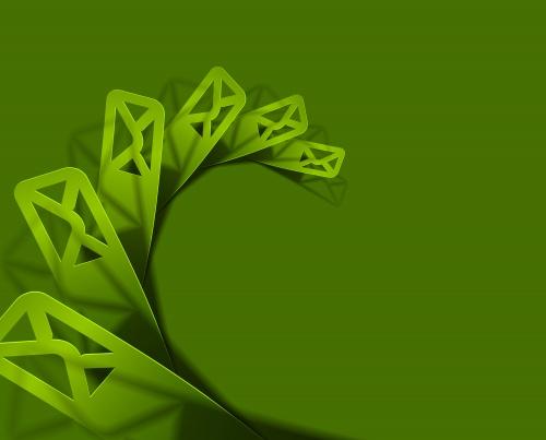 Зеленые абстрактные элементы в векторе / Green abstract elements in vector