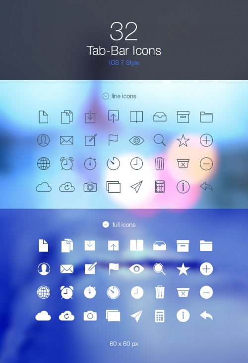 Pixeden - Tab Bar Icons iOS 7