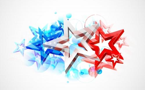 День Независимости США, часть 4 / Independence day of USA, part 4 - vector stock