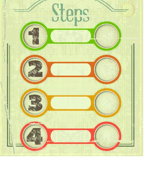Инфографики креативный дизайн ретро стиль | Infographic creative design retro style vector
