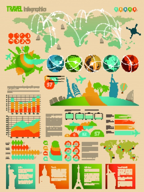 Инфографики диаграммы часть 60 | Infographic and diagram design elements vector set 60