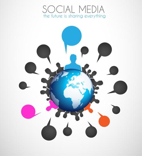 Инфографики на социальную тему, 46 / Social media infographics,46 - vector stock