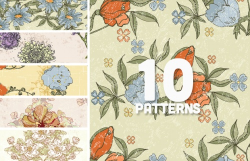 Vector Floral Patterns Set 88