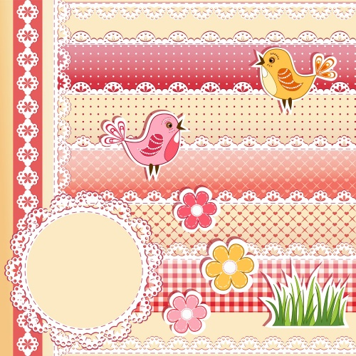 Summer scrapbook elements