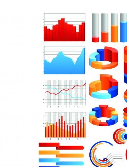 Инфографики и диаграммы часть 61 | Infographic and diagram design elements vector set 61