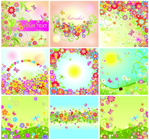 Summer floral cards