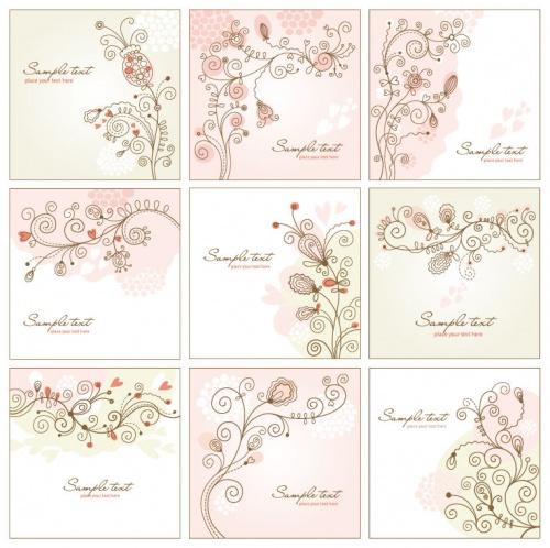 Нежные цветочные фоны