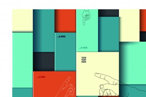 Разноцветные коробки фоны | Colorful boxes vector background