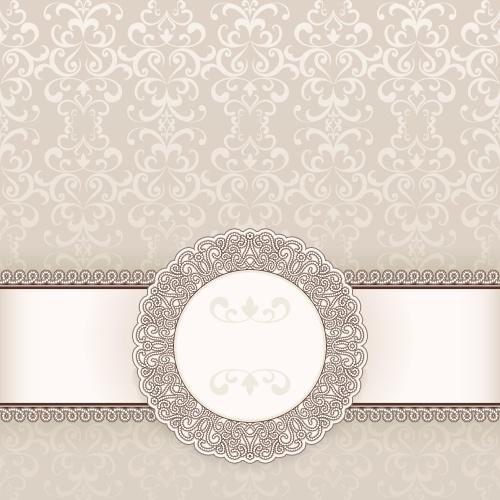 Винтажные светлые фоны, 12 / Vintage invitation background, 12 - vector stock
