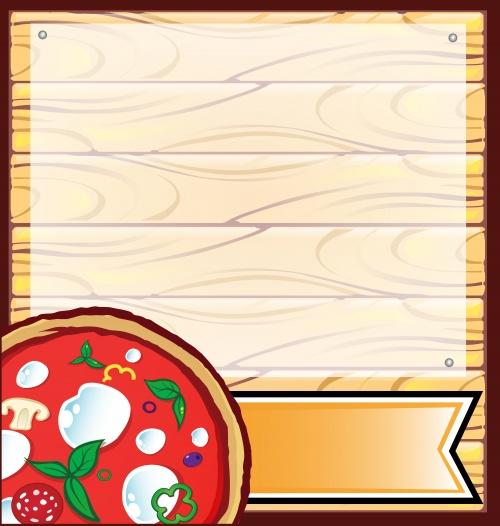 Векторные рыбные меню и меню для пиццы / Vector fish menu and menu for pizza
