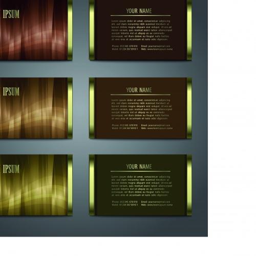 Глянцевые фоны для визиток | Glossy vector backgrounds for business cards