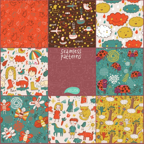 Childish seamless patterns