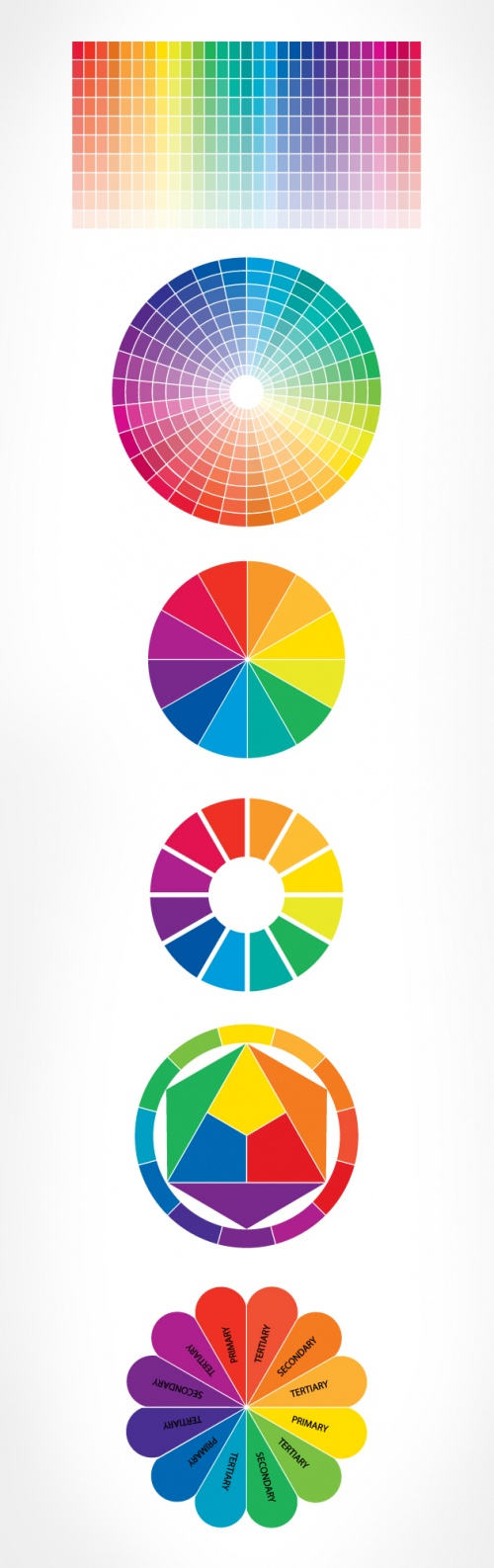 Designtnt - Color Wheel Vector Set