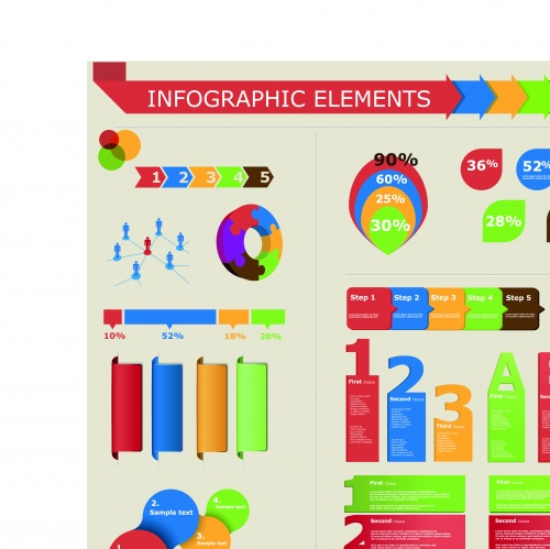 Инфографики и диаграммы часть 62 | Infographic and diagram design elements vector set 62