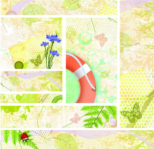 Summer vintage banners and backgrounds