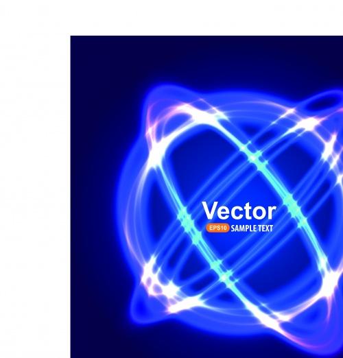 Фоны голубое свечение часть 3 | Blue light vector background 3