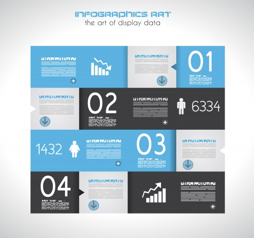 Элементы инфографики, часть 44 / Infographics design template with numeration and web elements, part 44 - vector stock
