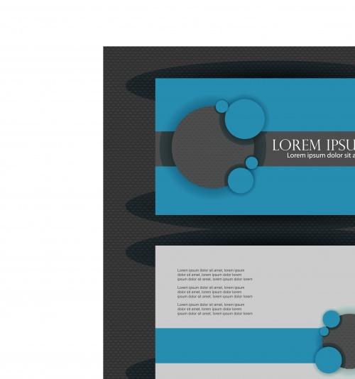 Бизнес карточки синие | Business cards blue vector