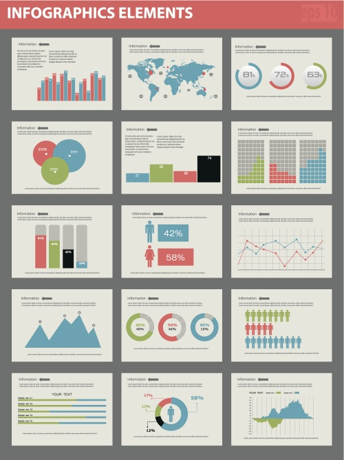 Элементы инфографики, часть 45 / Infographics design template with numeration and web elements, part 45 - vector stock