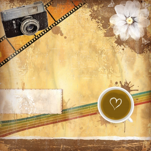 Vintage vector backgrounds, backgrounds with your phone, cameras and violin