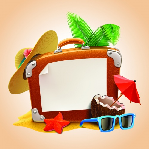 Summer Vacation Backgrounds Vector